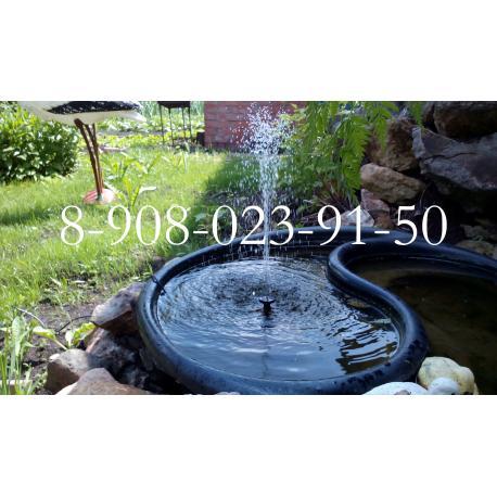 Фонтан для сада, бассейна с питанием от солнечной батареи