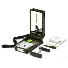 Компас многофункциональный с уровнем, термометром, гигрометром, фонариком, огнивом и лупой.