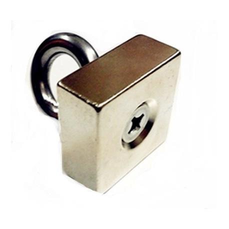 Мощный неодимовый магнит 35х35х15 N52 с рукояткой