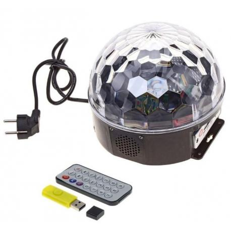 Светодиодный диско шар. USB. Пульт ДУ. Флешка.