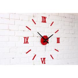 Настенные 3D часы черные
