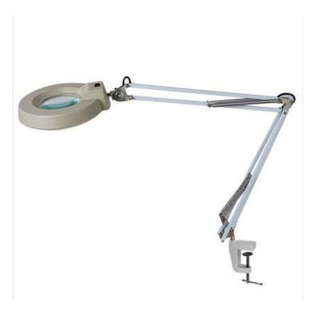 Лампа лупа на струбцине с подсветкой