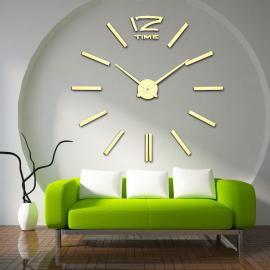 Бескаркасные настенные 3D часы  №1