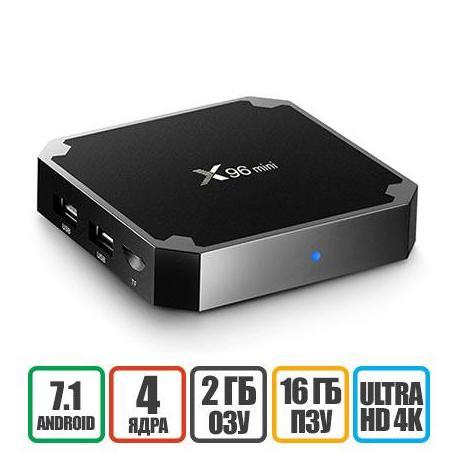X96 mini Android Смарт ТВ медиаплеер 2GB+16GB