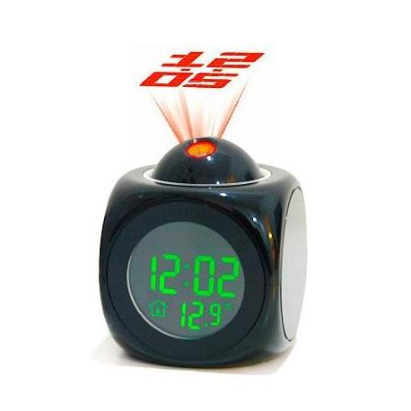 Будильник с проекцией времени и датчиком температуры