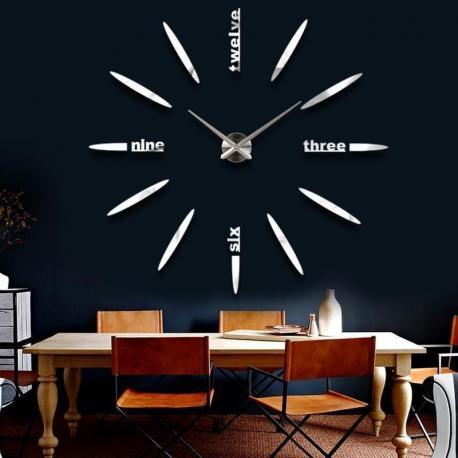 Большие настенные 3D часы  №7