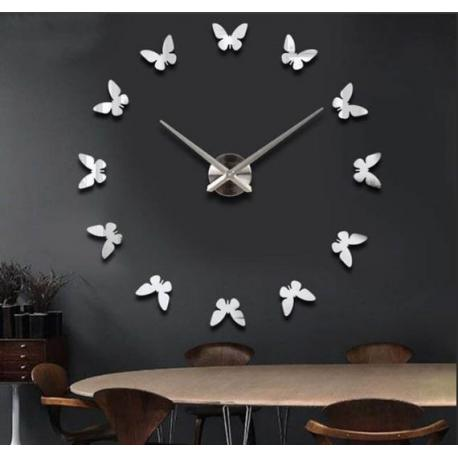 Большие настенные 3D часы  бабочки №8
