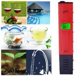 PH метр для измерения кислотности воды. Красный