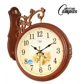 Двусторонние настенные часы. Двойной независимый циферблат.