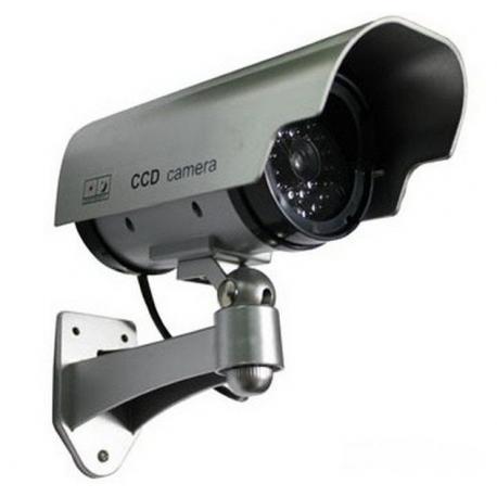 муляж камеры видео наблюдения с мигающим светодиодом. Камера наблюдения.